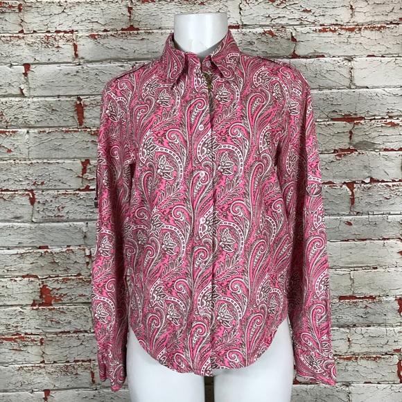 6e8c7457 Robert Graham Tops | Shirt Size Small Pink Paisley Top | Poshmark